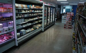 Shoping aisles inside Samios Foods in Coorparoo